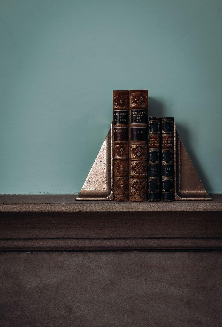 Modern Bronze Bookends by Henry Wilson