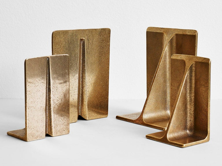 Contemporary Bronze Bookends by Henry Wilson