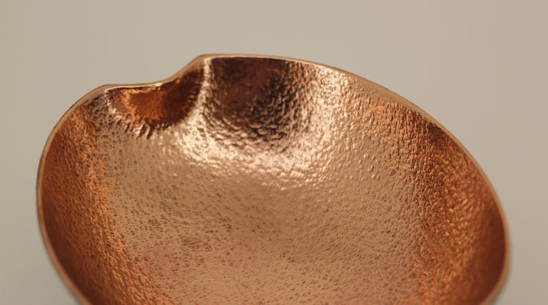 Contemporary Bronze Bowl with Legs, Vide-Poche For Sale