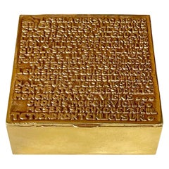 Bronze Box with Poem by Line Vautrin