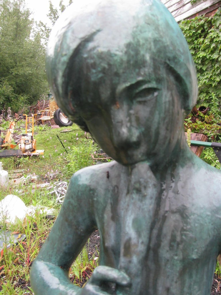Bronze Boy Flutist Fountain by Sylvia Shaw Judson For Sale 1