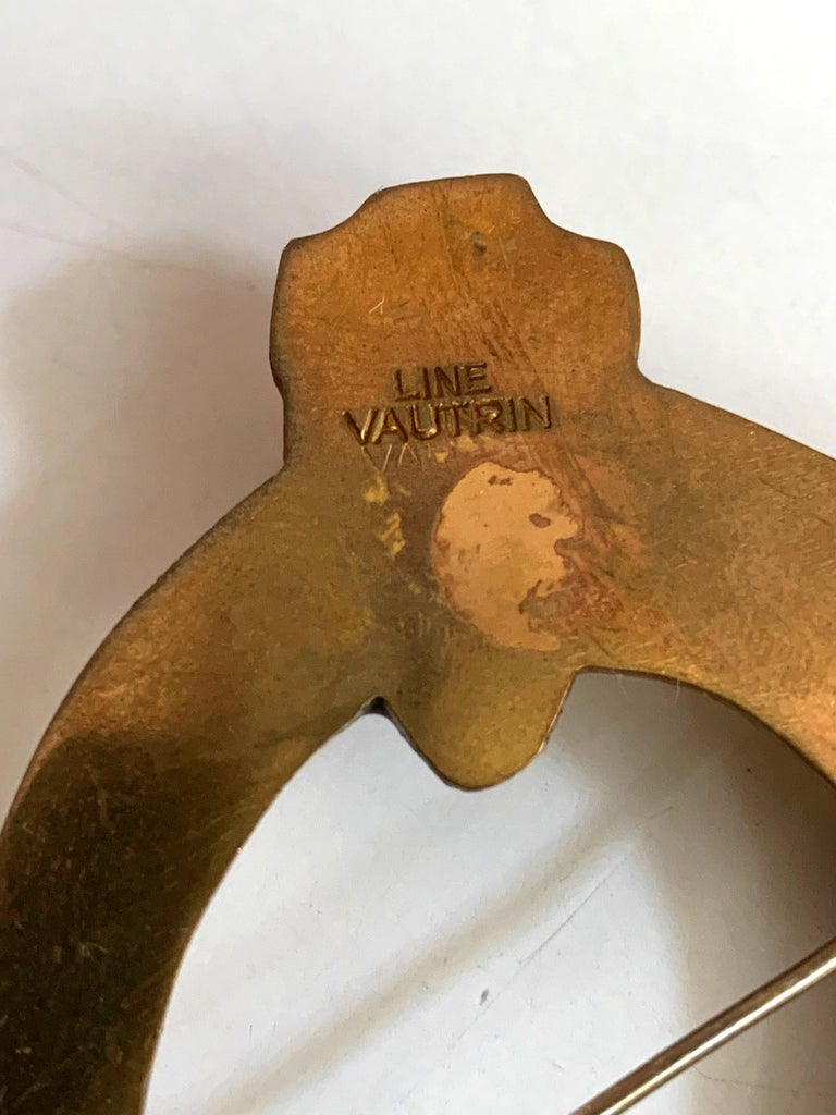 Bronze Brooch St Eloi by Line Vautrin In Good Condition For Sale In North Miami, FL