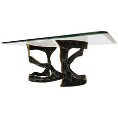 Bronze Brutalist Coffee Table, 1970s
