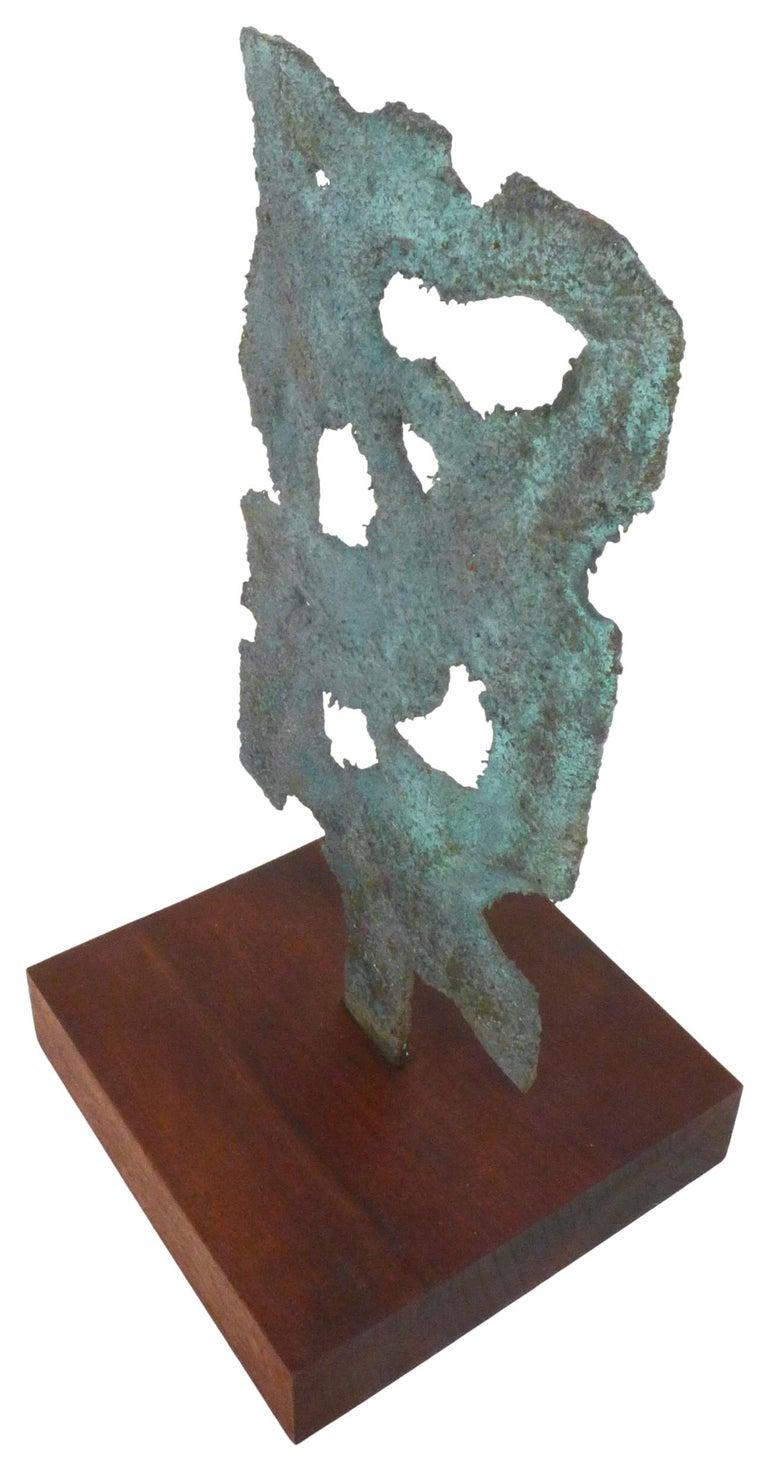 Modern Bronze Brutalist Sculpture For Sale
