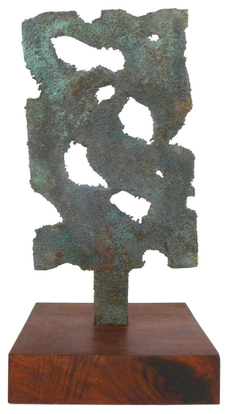 North American Bronze Brutalist Sculpture For Sale