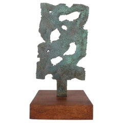 Bronze Brutalist Sculpture