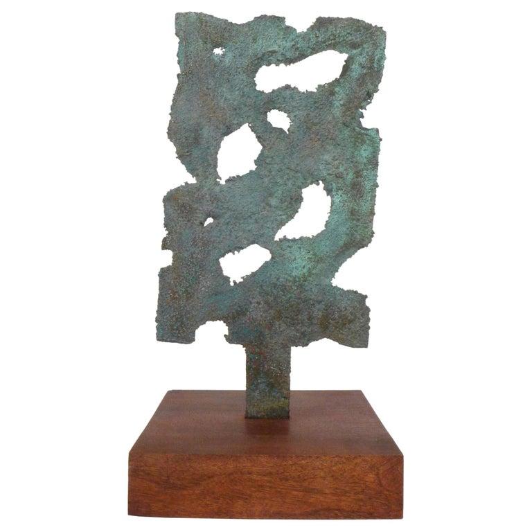 Bronze Brutalist Sculpture For Sale