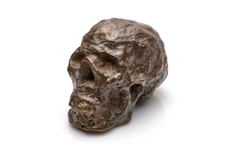Bronze Brutalist Skull Sculpture In Excellent Condition For Sale In New York, NY