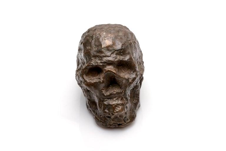 Mid-20th Century Bronze Brutalist Skull Sculpture For Sale