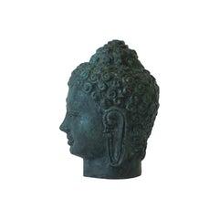Bronze Buddha Sculpture Bust Head