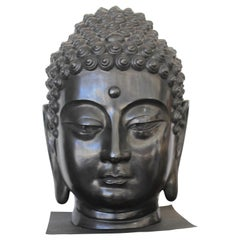 Bronze Buddha Sculpture Signed by Artist