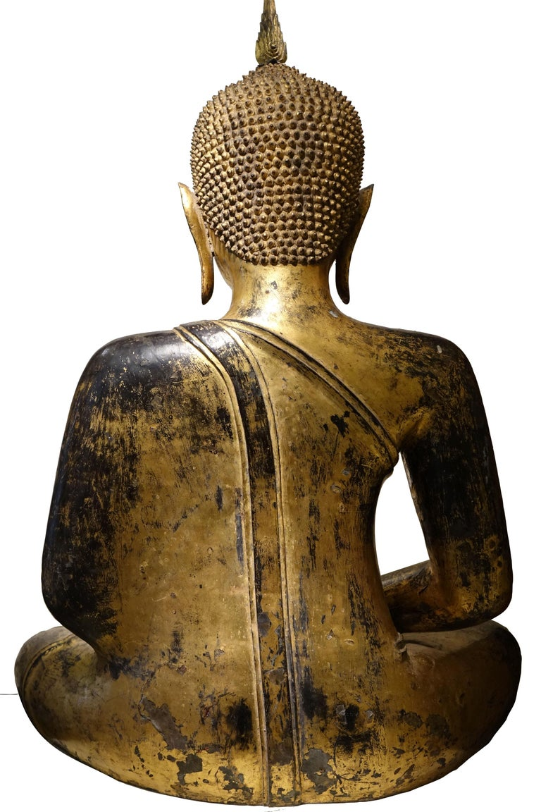 Bronze Buddha Statue, Thailand, 19th Century 8