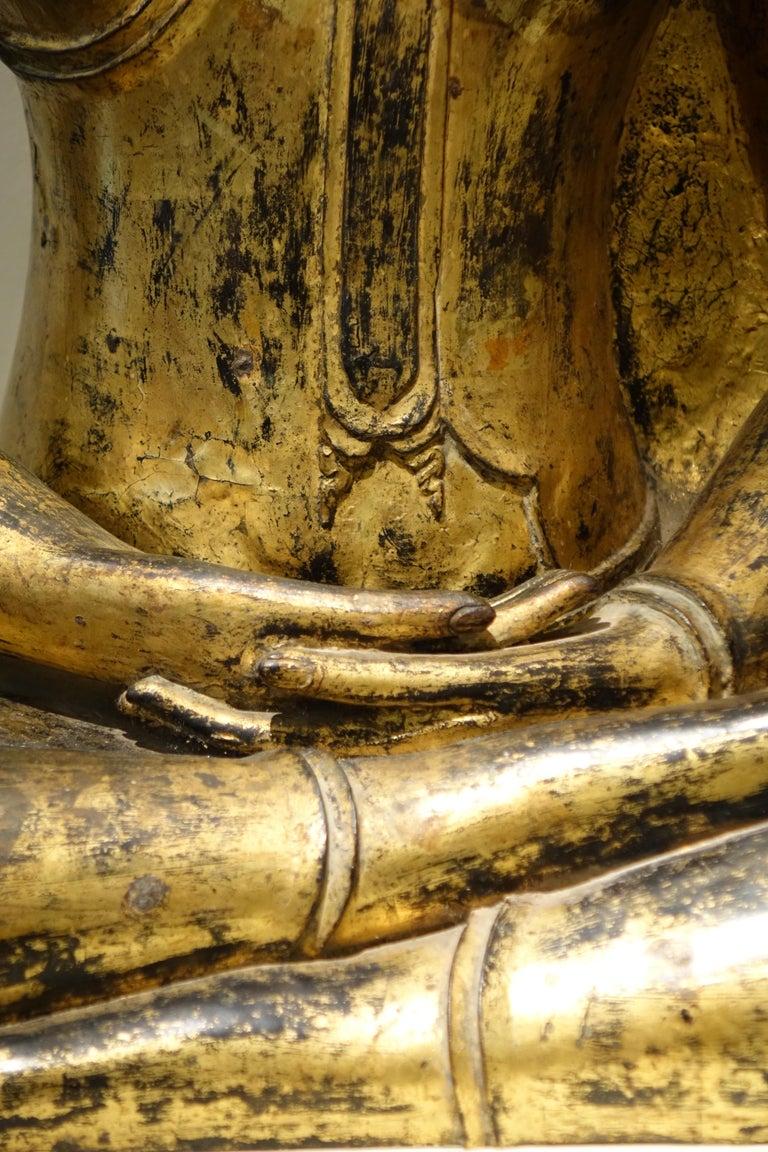 Gilt Bronze Buddha Statue, Thailand, 19th Century
