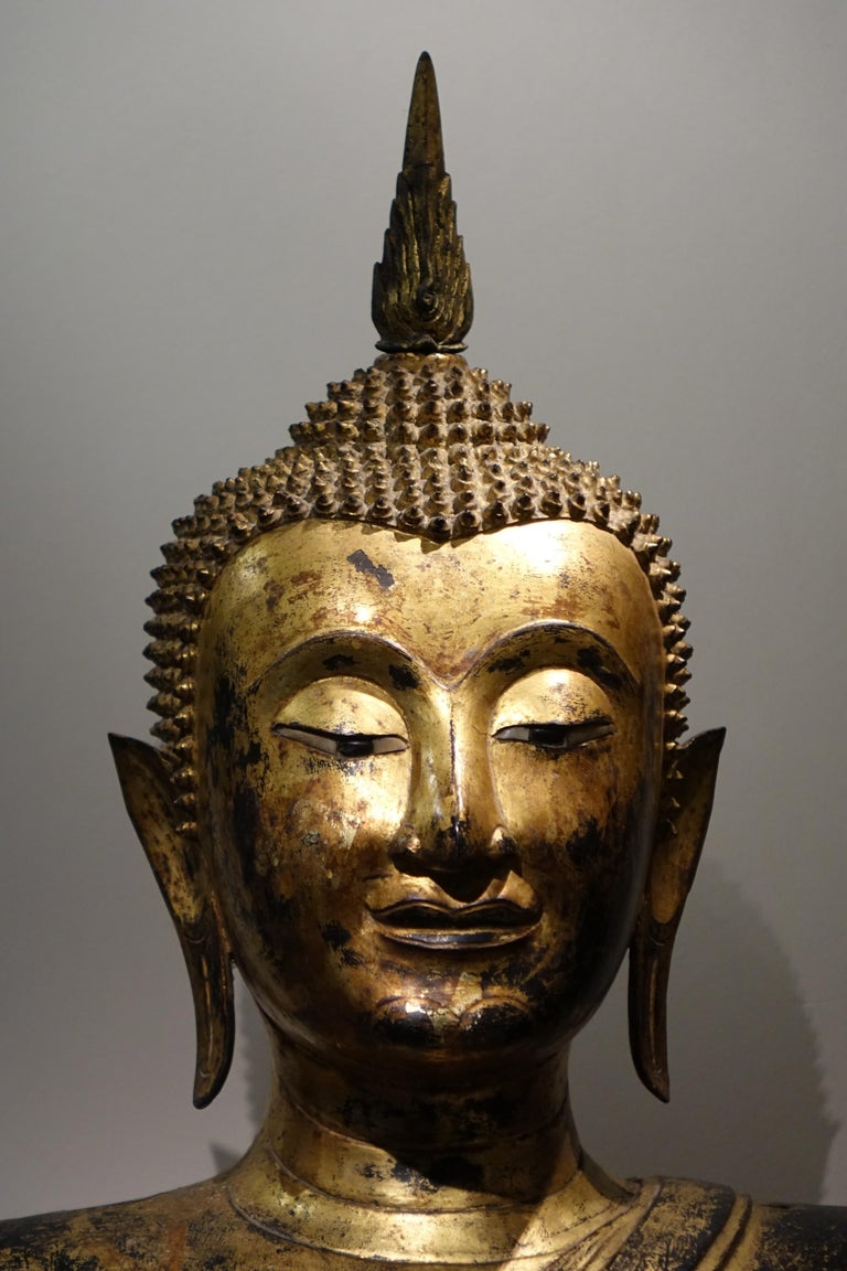 Bronze Buddha Statue, Thailand, 19th Century 1