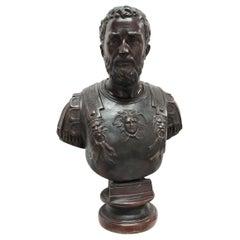 Bronze Bust of Roman Emperor Septimius Severus
