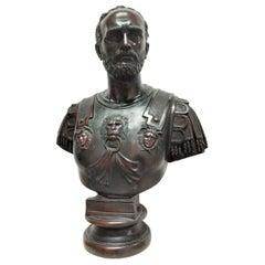 Bronze Bust of the Roman Emperor Hadrian