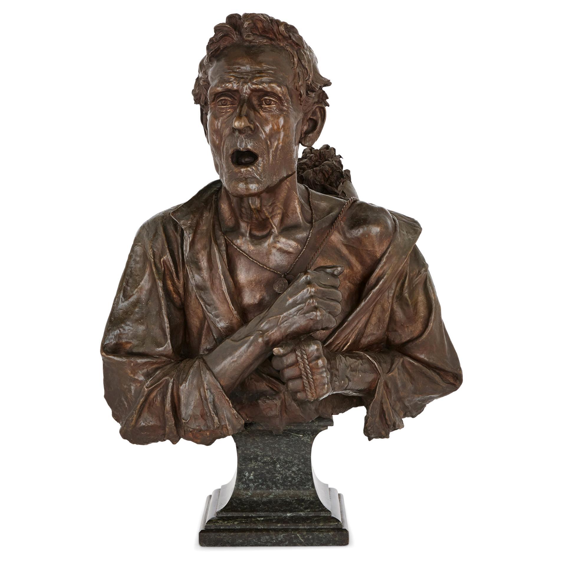 Bronze Bust Sculpture on Marble Plinth