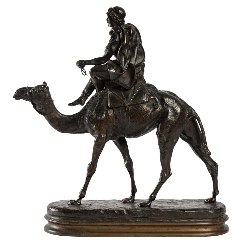 Bronze by C. Valton, Moorish Rider