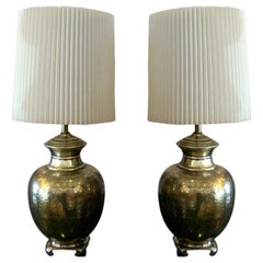 Bronze Ceramic Ginger Jar Design Lamps