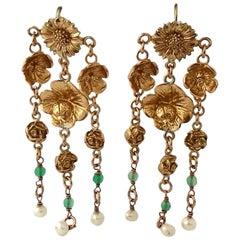 Bronze Chandelier Italian Earrings  by Patrizia Daliana