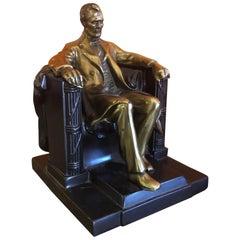 Bronze Clad Lincoln Monument Bookend / Sculpture