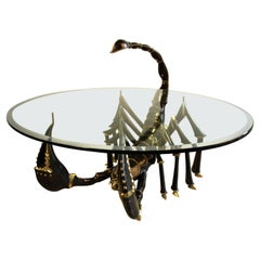 Bronze Coffee Table Attributed to Jacques Duval Brasseur