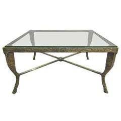 Coffee Tables Patinated Bronze signed, Christopher Chodoff, USA, 1980s