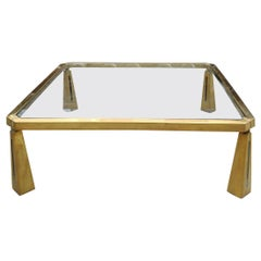 Bronze Coffee Table by Peter Ghyczy, 1970s
