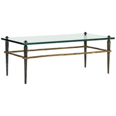 Bronze Coffee Table with Glass or Stone Top