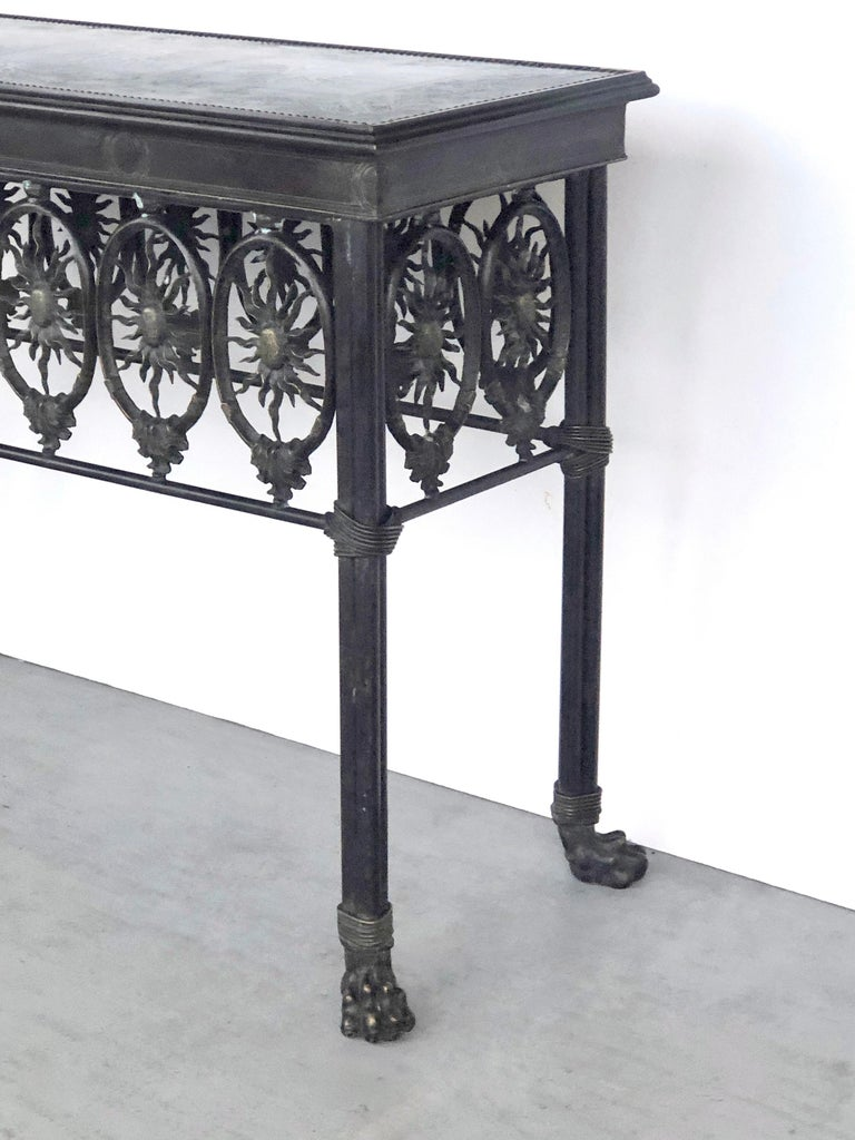 Bronze Console Table by Maitland Smith For Sale 8