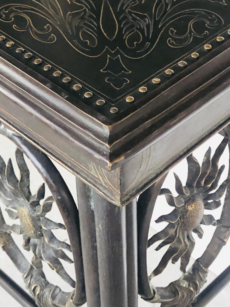 Asian Bronze Console Table by Maitland Smith For Sale