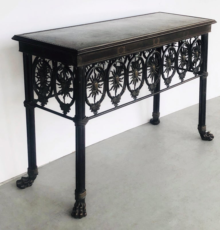 Bronze Console Table by Maitland Smith For Sale 2