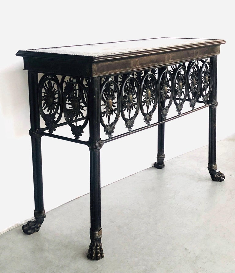 Bronze Console Table by Maitland Smith For Sale 3