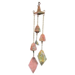 Bronze Cosanti Windbell Cluster with Hanging Bracket by Paolo Soleri