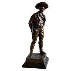 Bronze Cowboy figure of Carl Kauba, circa 1900