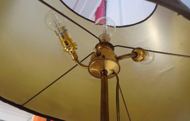 "Gilt Bronze ""Crane"" Floor Lamp, circa 1970 by René Broissand"