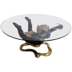Bronze Cupid Coffee Table, 1970s