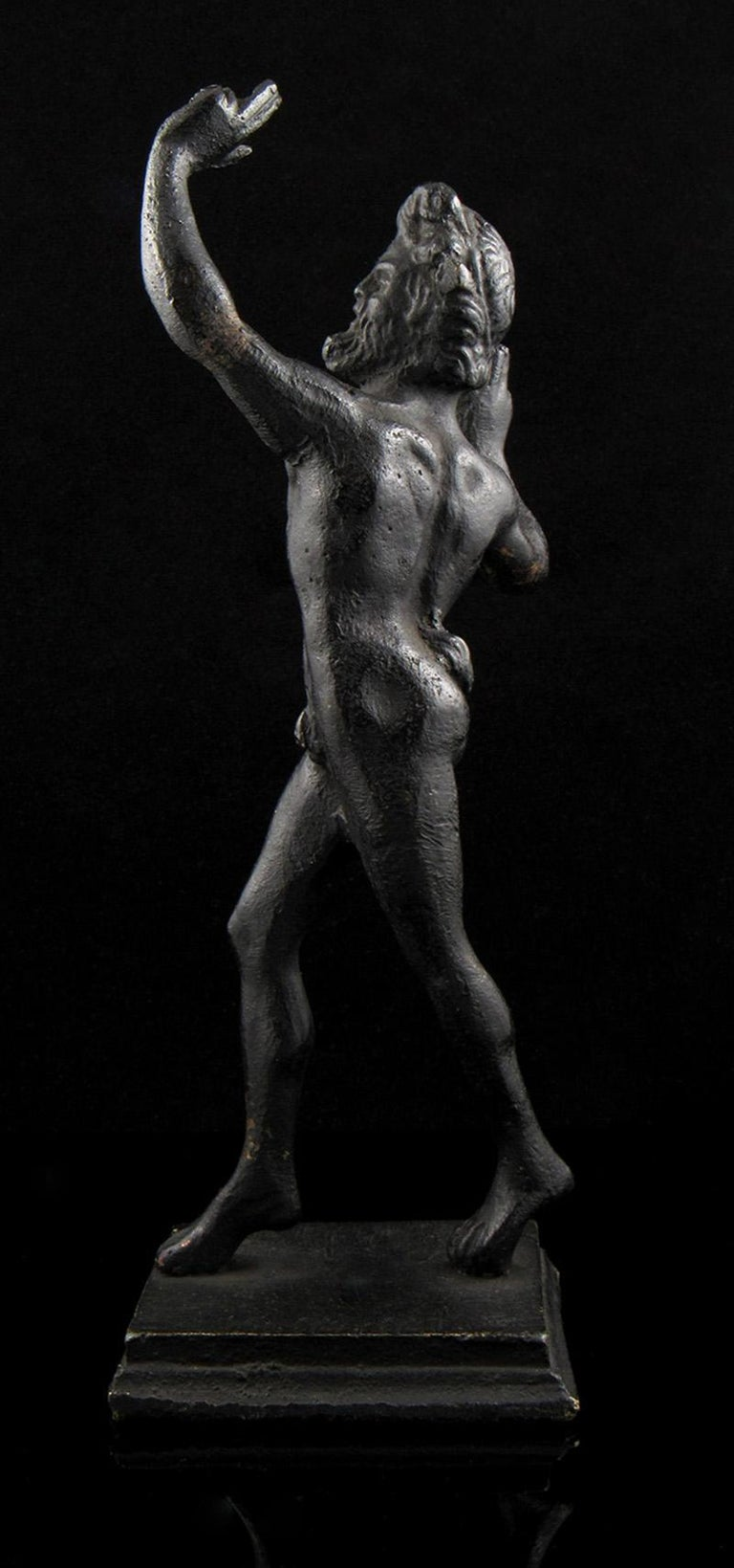 Well Cast 19th Century Bronze Dancing Faun Figurine For Sale 1