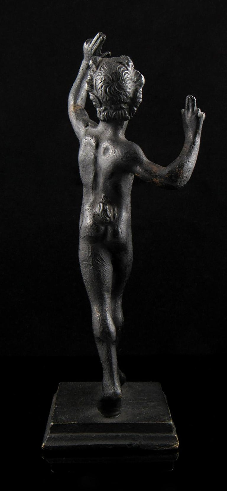 Well Cast 19th Century Bronze Dancing Faun Figurine For Sale 2
