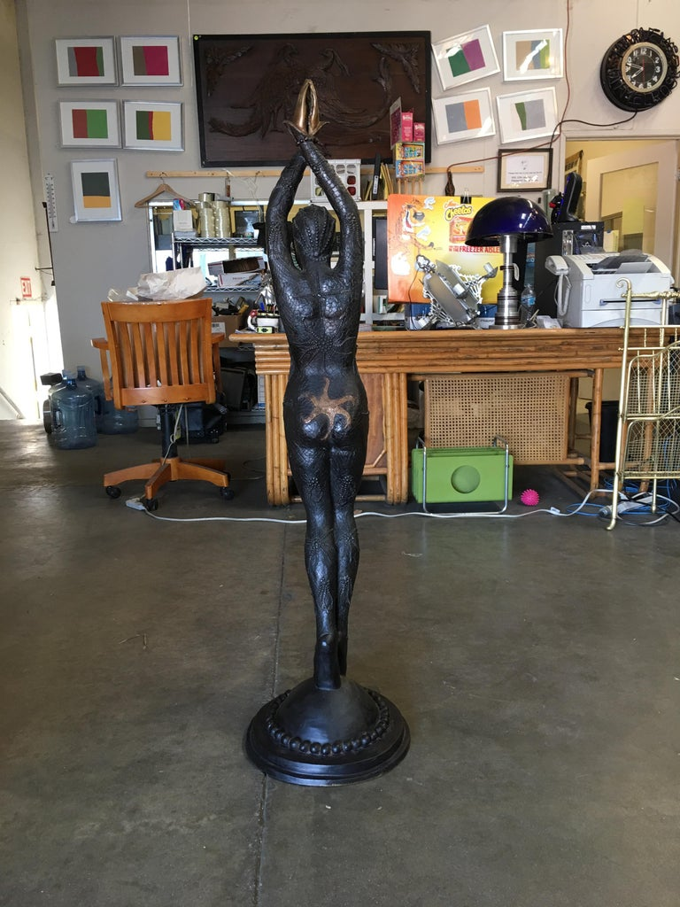 American Bronze Deco Statue Fashioned After