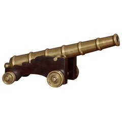 Bronze Desk Top Model of a Signal Cannon