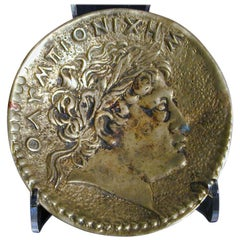 Bronze Dish with Greek Head by Le Verrier