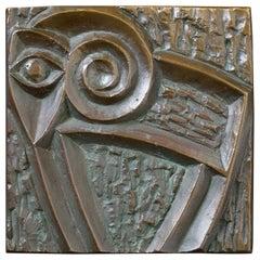 Bronze Door Handle with Modernist Zoomorphic Motif, 20th Century, European