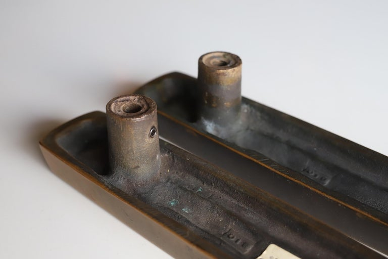 Bronze Door Pulls by Forms and Surfaces In Good Condition For Sale In Oklahoma City, OK