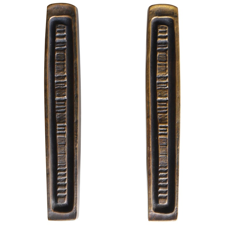 Bronze Door Pulls by Forms and Surfaces For Sale
