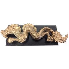 Bronze Dragon Sculpture Wax Cast and Fire Gilding by Tillmann Köhn