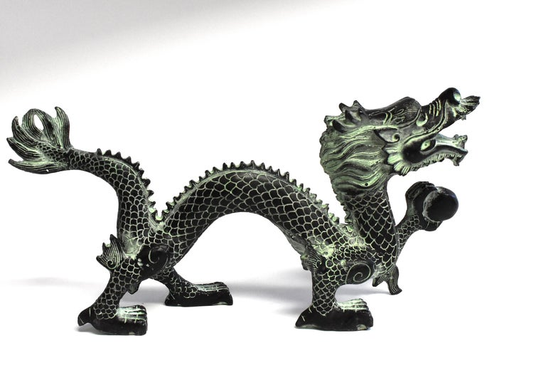 Bronze Dragon with Fire Ball, 11.5