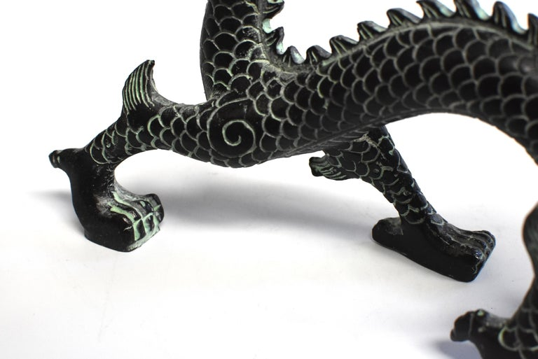 Bronze Dragon with Fire Ball, 9.5