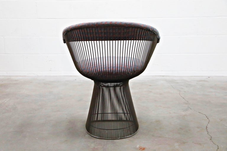 Bronze Early Production Warren Platner for Knoll International Armchairs, Signed For Sale 8