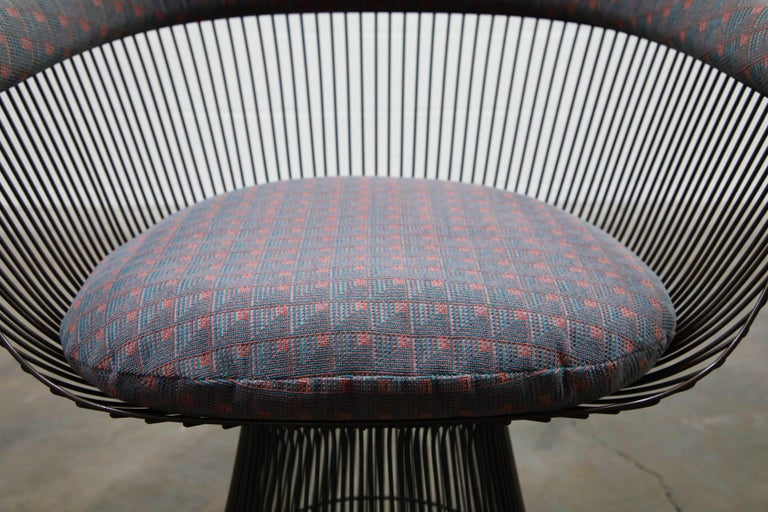 Bronze Early Production Warren Platner for Knoll International Armchairs, Signed For Sale 10